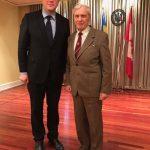 Роланд Франко та посол України в Канаді Андрій Шевченко